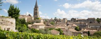 Vineyards at Saint Emilion city center